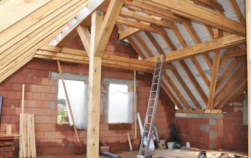 Tan Office attic trusses